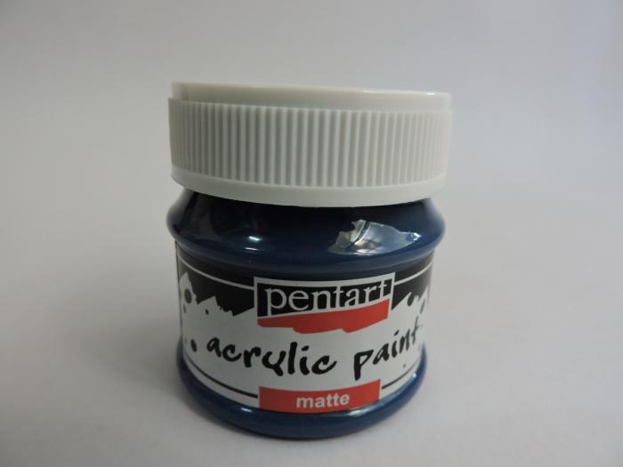 Vopsea acrilica mata 50 ml- albastru inchis [0]