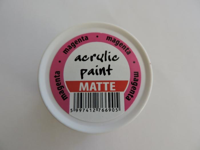 Vopsea acrilica mata 50 ml- magenta [1]