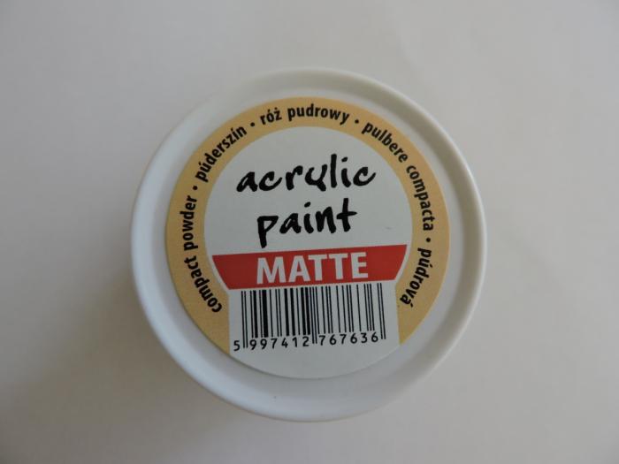 Vopsea acrilica mata 50 ml- pudra compacta [2]