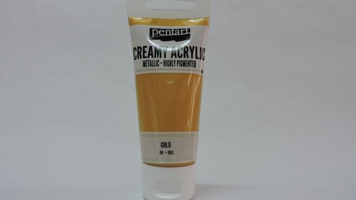Vopsea acrilica metalizata, cremoasa 60 ml-auriu [0]
