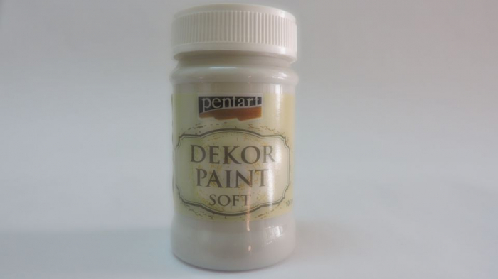 Vopsea decorativa Soft 100 ml- alb murdar 0