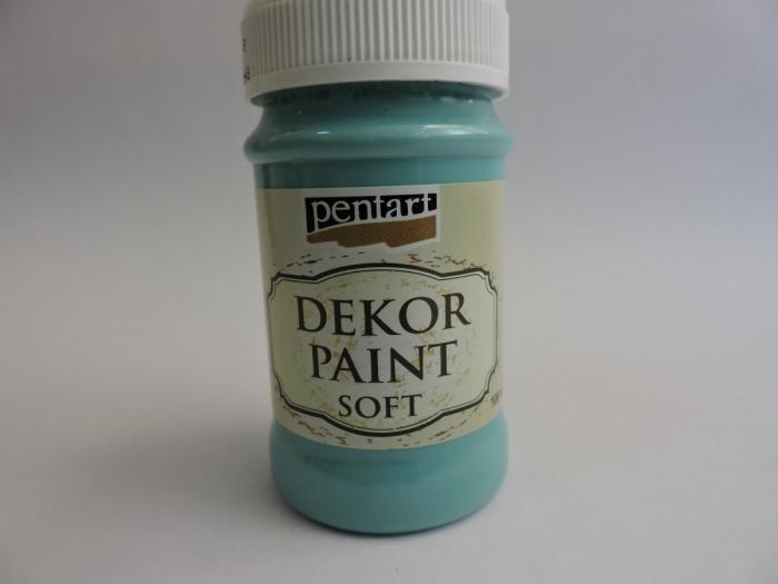 Vopsea decorativa Soft 100 ml- albastru turcoaz [0]