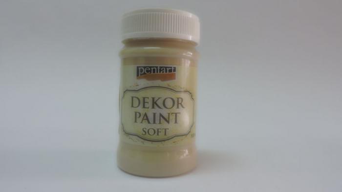 Vopsea decorativa Soft 100 ml- Cappucino 0