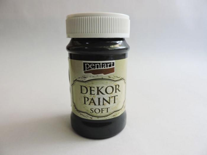 Vopsea decorativa Soft 100 ml- negru 0