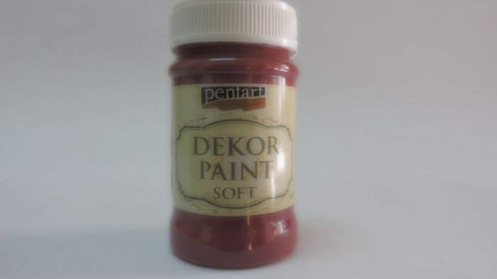 Vopsea decorativa Soft 100 ml- rosu burgundi 0