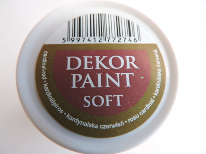 Vopsea decorativa Soft 100 ml- rosu cardinal [2]