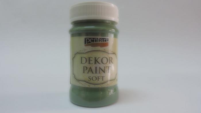 Vopsea decorativa Soft 100 ml-verde kaki 0