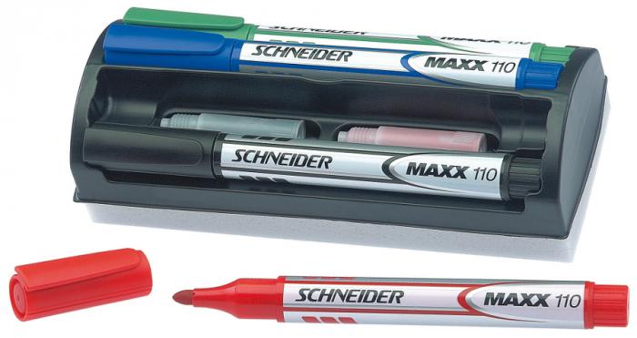 Whiteboard-kit Schneider Maxx board marker 0