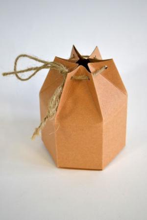 Cutiuta hexagonala din carton 8 x 10 cm [0]