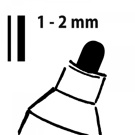 Marker tip creta 20, varf rotund 1.2mm negru set de 2 [1]