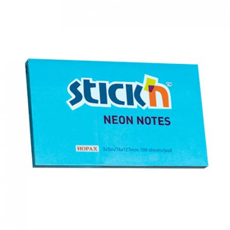 Notes autoadeziv 127x76 mm- culori neon - 100file/buc0