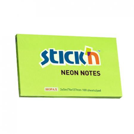 Notes autoadeziv 127x76 mm- culori neon - 100file/buc6