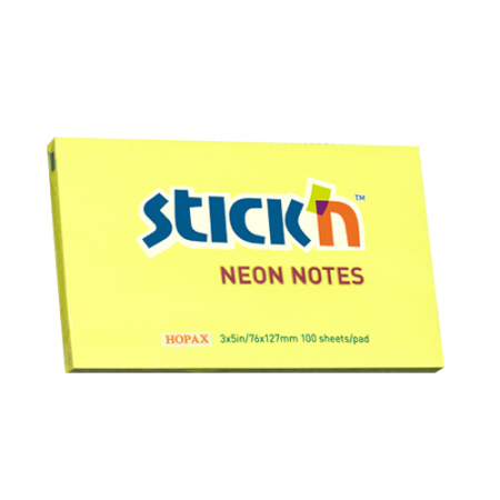 Notes autoadeziv 127x76 mm- culori neon - 100file/buc1