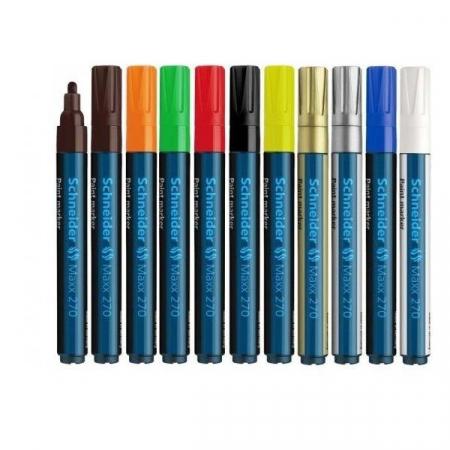 Paint marker Schneider 270 - varf 1-3mm - auriu argintiu si diverse culori1