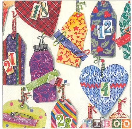 Servetel decorativ- cifre- 33x33 [1]