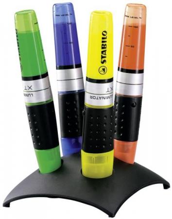 Stabilo Luminator cu suport 4 culori /set [0]