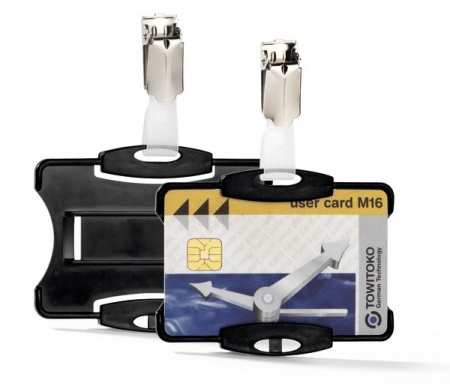 Suport card securitate orizontal cu clip standard [0]