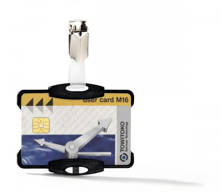 Suport card securitate orizontal cu clip standard [4]