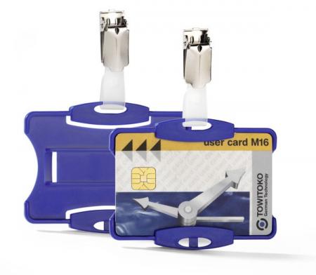 Suport card securitate orizontal cu clip standard [2]