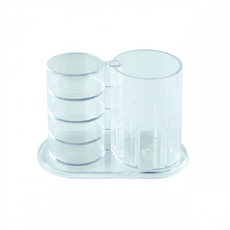 Suport instrumente de birou plastic cu 4 comp. rotative [2]