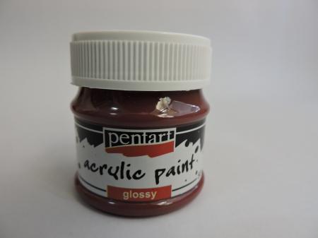 Vopsea acrilica lucioasa 50 ml- bordo [0]