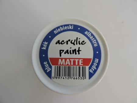 Vopsea acrilica mata 50 ml- albastru [1]