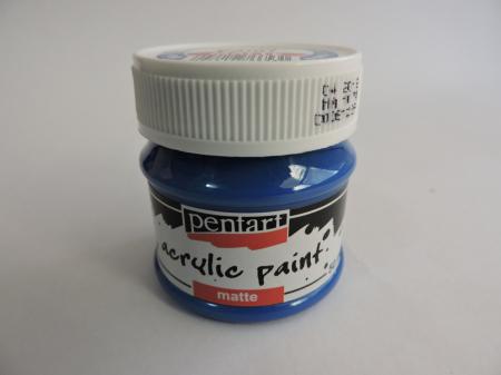 Vopsea acrilica mata 50 ml- albastru [0]