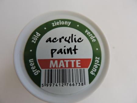 Vopsea acrilica mata 50 ml- verde [2]