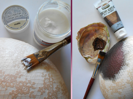 Vopsea acrilica metalizata, cremoasa 60 ml- aur antic [2]