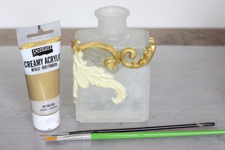 Vopsea acrilica metalizata, cremoasa 60 ml- aur baroc [4]