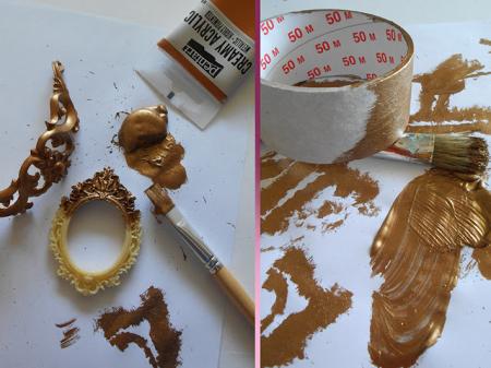 Vopsea acrilica metalizata, cremoasa 60 ml- aur baroc [1]