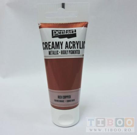 Vopsea acrilica metalizata, cremoasa 60 ml- cupru rosu [0]