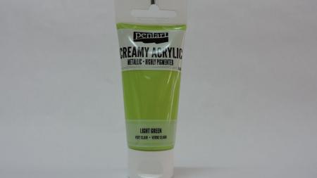 Vopsea acrilica metalizata, cremoasa 60 ml-verde deschis0