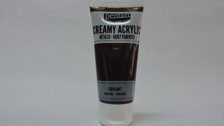 Vopsea acrilica metalizata, cremoasa 60 ml-vinetiu [0]