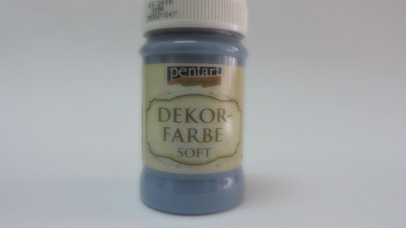 Vopsea decorativa Soft 100 ml- albastru blugi [0]
