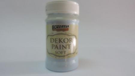 Vopsea decorativa Soft 100 ml- albastru gheata [0]