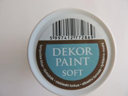 Vopsea decorativa Soft 100 ml- albastru turcoaz [2]