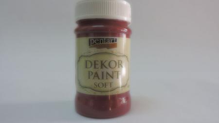 Vopsea decorativa Soft 100 ml- rosu burgundi0