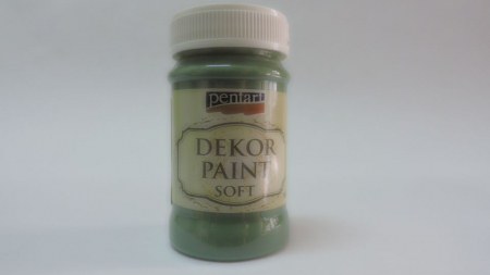 Vopsea decorativa Soft 100 ml-verde kaki0