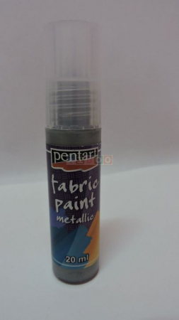 Vopsea pentru textile metalizata 20ml -argintiu [0]
