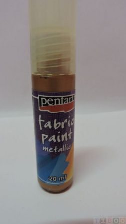 Vopsea pentru textile metalizata 20ml-bronz [0]