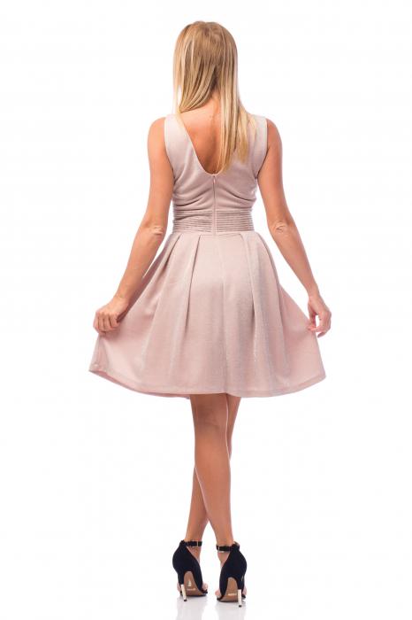 Rochie elegantă cu strasuri aplicate pe talie 2