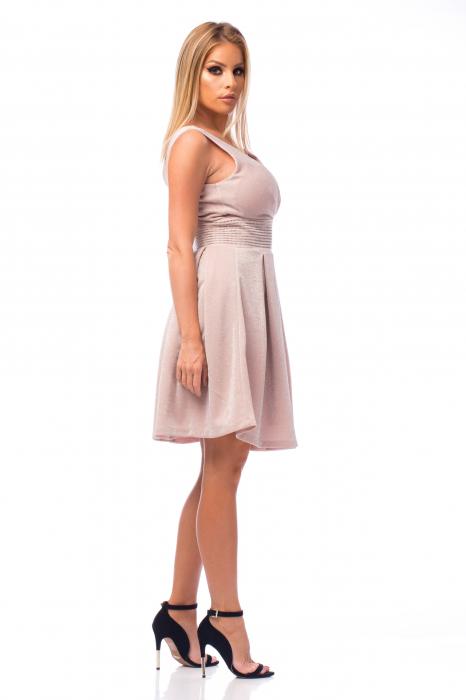 Rochie elegantă cu strasuri aplicate pe talie 3