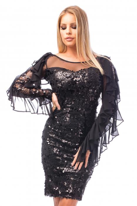 Rochie elegantă cu paiete 1