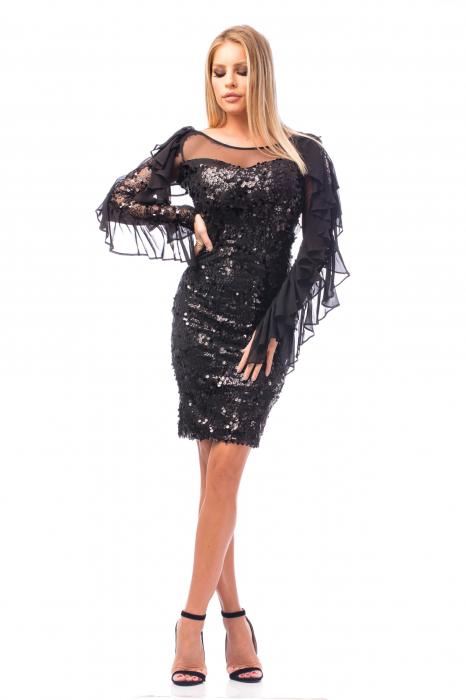 Rochie elegantă cu paiete 0