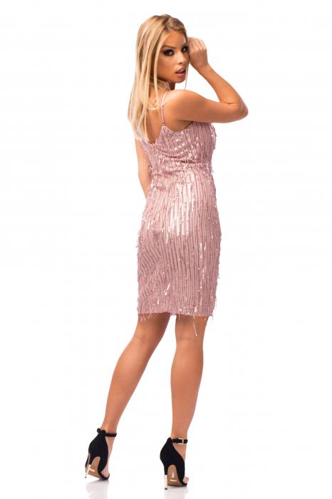 Rochie elegantă scurtă cu barete subțiri 2