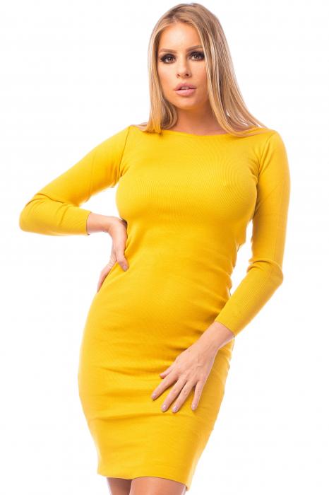 Rochie elegantă galbenă 1