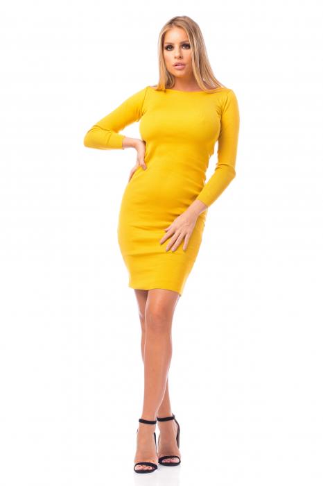 Rochie elegantă galbenă 0
