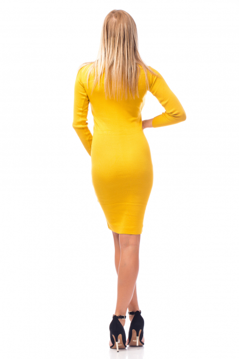 Rochie elegantă galbenă 3
