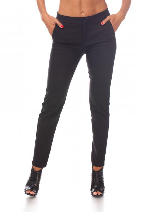 Pantaloni clasici din tercot negru 0